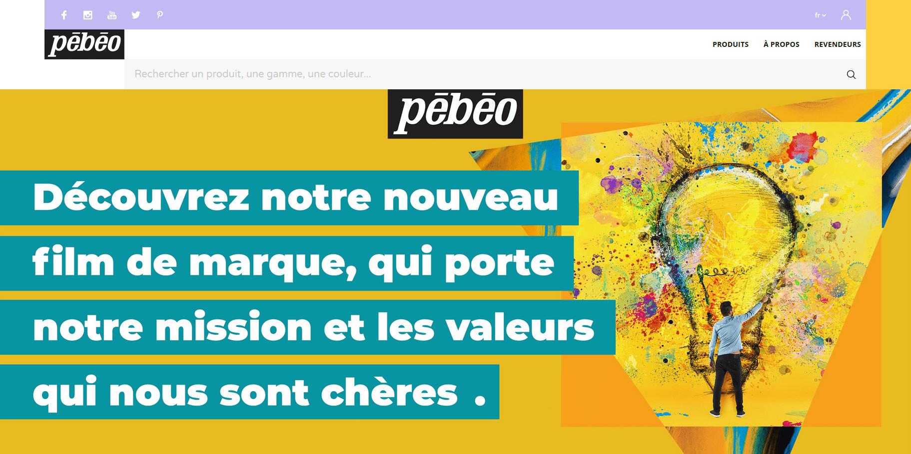 Site internet Pébéo