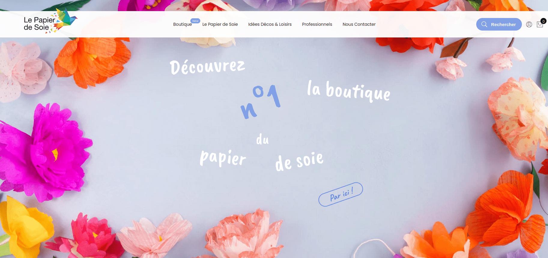 Site web Le papier de soie