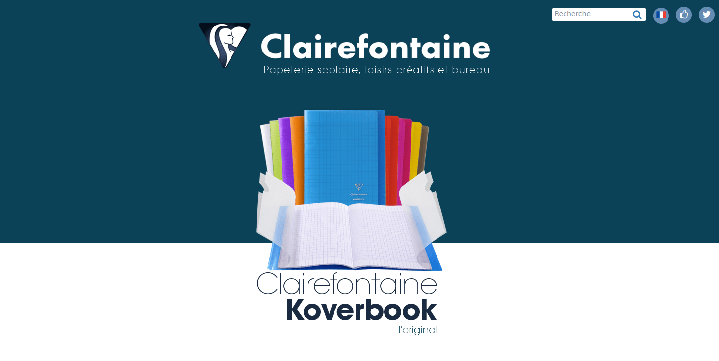 Site internet des papeteries Clairefontaine